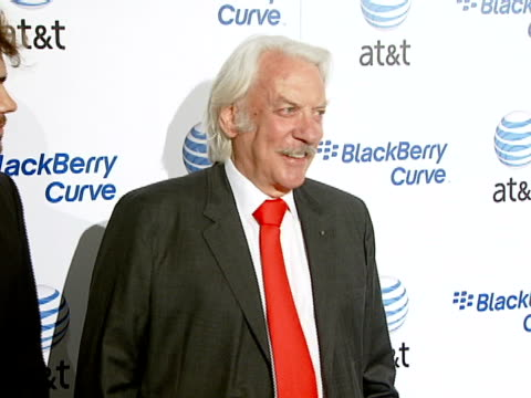 donald sutherland at the blackberry curve from at&t u.s. launch party at beverly hills california. - curve stock videos & royalty-free footage