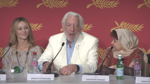 INTERVIEW Donald Sutherland tells an antidotal on his thoughts on Canadian cinema at Jury Press Conference at Palais des Festivals on May 11 2016 in...