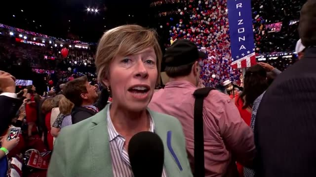 donald trump accepts nomination at republican national convention reporter to camera sot - nomination stock videos & royalty-free footage