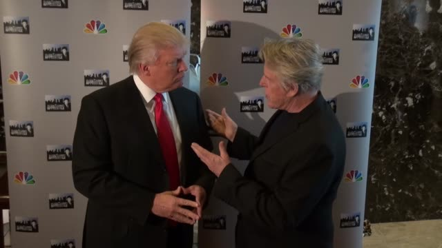 Donald Trump and Gary Busey at Trump Tower in New York NY on 4/30/13