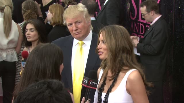 Donald Trump and Melania Trump at the 'Sex and the City The Movie' New York Premiere at New York NY