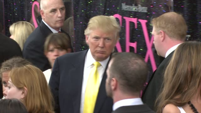 donald trump and melania trump at the 'sex and the city the movie' new york premiere at new york ny - melania trump stock-videos und b-roll-filmmaterial