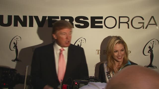Donald Trump and Tara Conner Miss USA 2006 at the Press Conference by Donald Trump on the Current Miss Universe Titleholder at Trump Tower in New...