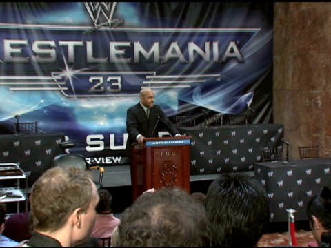 Donald Trump and World Wrestling Entertainment Host News Conference for WrestleMania 23 New York NY 3/28/07 in Hollywood California on March 29 2007