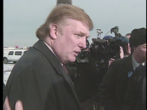 donald trump arrives n minnesota, speaks at fundraiser for the reform party. - reform stock-videos und b-roll-filmmaterial
