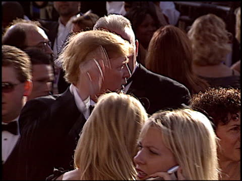 donald trump at the 2004 emmy awards arrival at the shrine auditorium in los angeles california on september 19 2004 - emmy awards stock videos & royalty-free footage