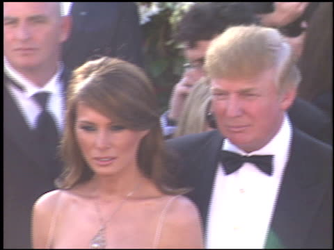 donald trump at the 2004 emmy awards arrivals at the shrine auditorium in los angeles california on september 19 2004 - 2004 stock videos and b-roll footage