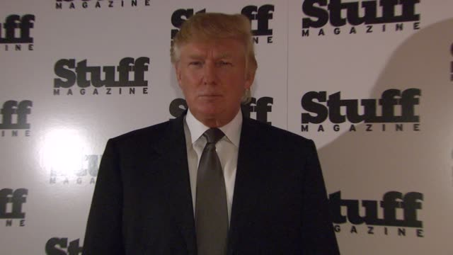 donald trump at the preview of stuff magazine´s 2007 fall fashion issue at trump tower in new york new york on august 14 2007 - 2007 stock videos & royalty-free footage