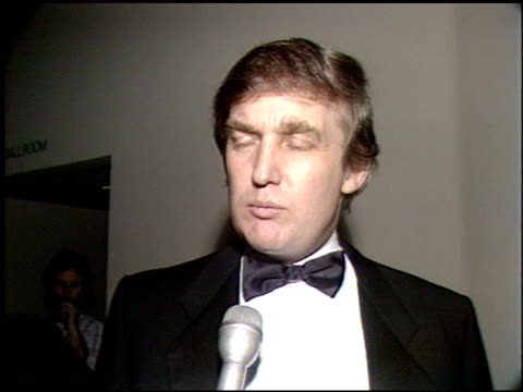 donald trump at the scopus awards 1990 at the beverly hilton in beverly hills, california on january 14, 1990. - 1990 stock videos & royalty-free footage