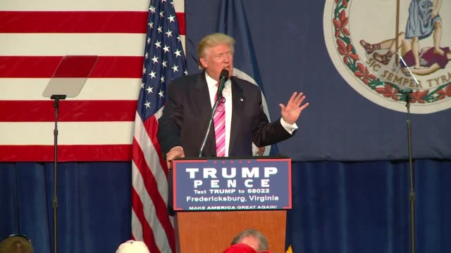 Donald Trump campaign speech in Fredericksburg Virginia This section is primarily about the energy sector and coal TRANSCRIPT...