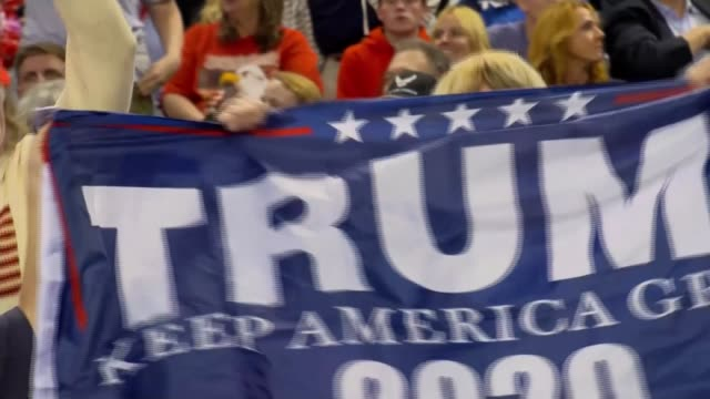 donald trump campaigns across usa ahead of midterm elections usa iowa council bluffs trump supporters dancing and cheering / signs iowa council... - midterm election stock videos & royalty-free footage