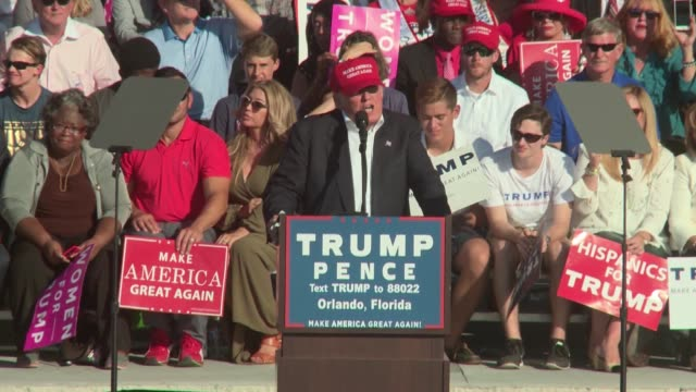 donald trump campaigns in orlando florida in the waning days of election 2016 - 2016 video stock e b–roll