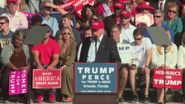 donald trump campaigns in orlando florida in the waning days of election 2016 - 2016 stock videos & royalty-free footage