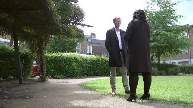 Donald Trump criticises London Mayor Sadiq Khan over London murders ENGLAND London EXT Lorraine Jones set up shot with reporter