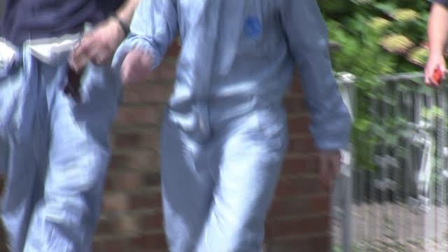 Donald Trump criticises London Mayor Sadiq Khan over London murders ENGLAND London EXT Various shots of forensics officers along residential street