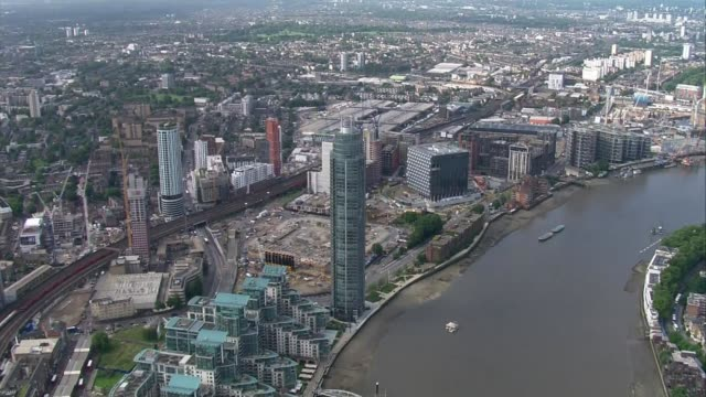 Donald Trump criticises 'lousy' location of new US Embassy in London LIB / 1082017 London of St George Wharf Tower new US Embassy in Nine Elms under...
