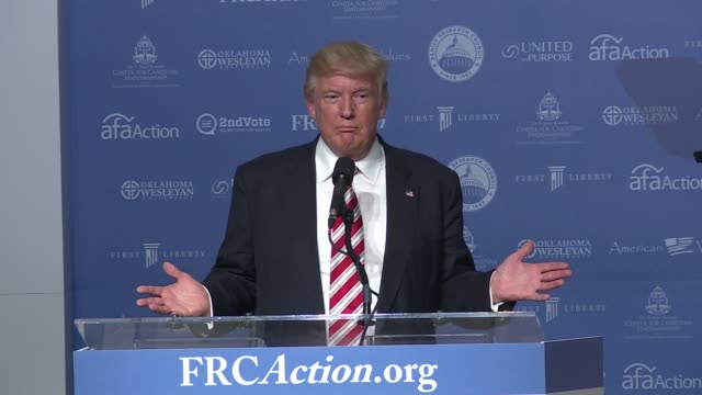 donald trump end of speech at value voters, the annual conference put on by the family research council. in this section, he talks about phyllis... - speech stock videos & royalty-free footage