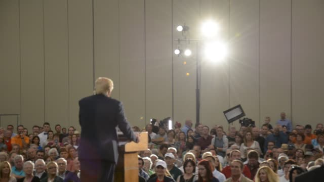 donald trump entering rally speaking and leaving - political rally stock videos & royalty-free footage