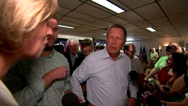 Donald Trump front runner as Republican party candidate John Kasich interview SOT You ever played golf When you play golf you don't watch what the...