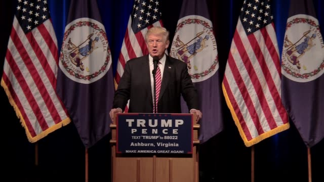 stockvideo's en b-roll-footage met donald trump holds a campaign rally in ashbury loudon county virginia eric trump steps up to the microphone - presidentsverkiezing