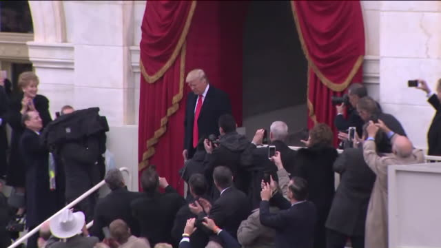 wpix donald trump introduced at the us capitol for the inauguration - us president stock videos & royalty-free footage
