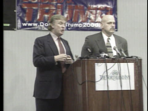 donald trump is helping jesse ventura fundraise for the reform party, discusses running for president. - reform stock-videos und b-roll-filmmaterial