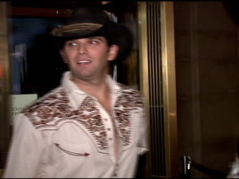 donald trump jr and vanessa haydon trump at the roberto cavalli vodka and giuseppe cipriani celebrate halloween at cipriani 42nd street in new york... - vanessa haydon stock-videos und b-roll-filmmaterial