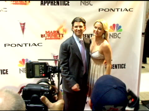 donald trump jr and vanessa trump at the 'the apprentice' season finale at l.a. mart in los angeles, california on june 5, 2006. - vanessa trump stock videos & royalty-free footage