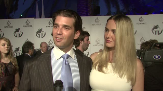 donald trump, jr., and wife vanessa on the project, the amenities, the appeal of dubai, working with his father on the project at the nakheel & the... - vanessa trump stock videos & royalty-free footage
