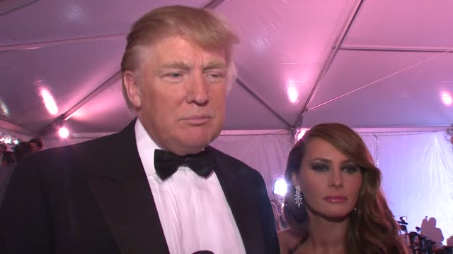 Donald Trump Melania Trump on why this is a great event for New York his favorite superhero and what superpower he would love to have at the...