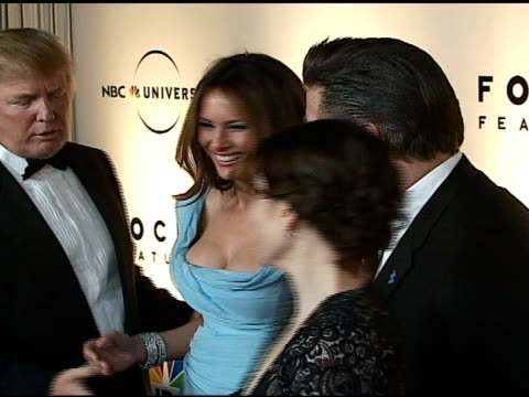 donald trump melania trump tina fey and alec baldwin at the nbc universal and focus features 2007 golden globes party on january 15 2007 - alec baldwin stock videos and b-roll footage
