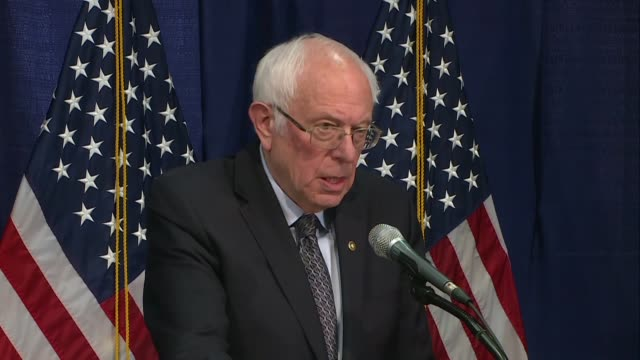 donald trump must be defeated says bernie sanders after losing the states of mississippi missouri idaho and michigan to joe biden during tuesday's... - vermont stock videos & royalty-free footage