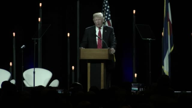 "Donald Trump predicts ""tremendous victory"" in his Colorado debut at Western Conservative Summit in Denver CO"