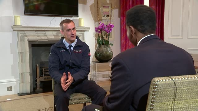 New relationship with Russia Corey Lewandowski interview SOT on being in contact with President elect Donald Trump Reporter and Lewandowski sitting...