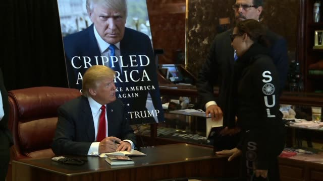 Donald Trump publishes a book about the ills of America kicking up a media frenzy by signing copies for fans insulting his rivals and telling voters...
