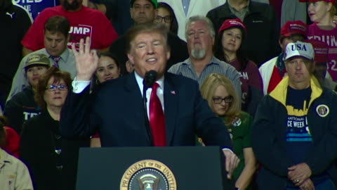 """donald trump saying """"there is collusion between the democrats and the fake news right here"""" at a rally in el paso, texas - donald trump us president stock videos & royalty-free footage"""
