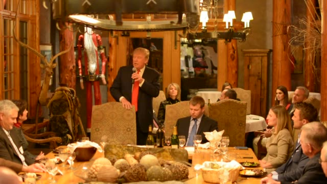 Donald Trump speaks to a small group including Chris Soules at a private dinner before declaring that he's running for President He was testing the...