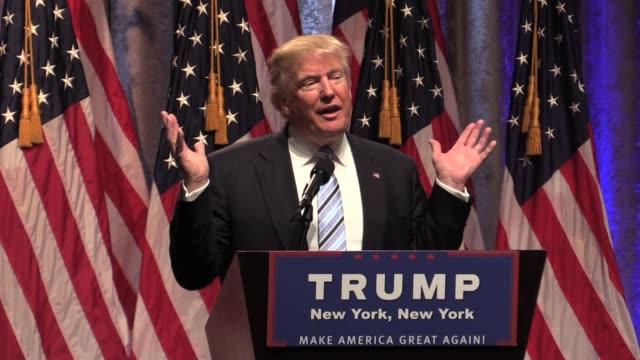 Donald Trump Speech Announces VP Mike Pence Presser Hilton Hotel Talks about getting rid of Johnson Amendment so churches don't lose tax exemption