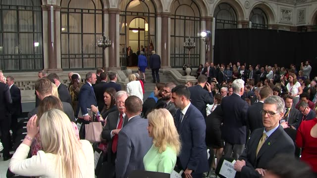 day two trump and theresa may hold joint press conference england london foreign and commonwealth office int donald trump and theresa may mp leaving... - donald trump us president stock videos and b-roll footage