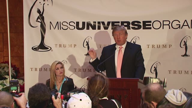 Donald Trump states that he believes Tara Conner can provide a valuable service to those troubled people and introduces Tara to speak at the Press...