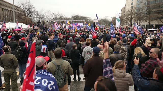 donald trump supporters gather in washington dc ahead of rally; usa: washington dc: ext gvs trump supporters posing for photos at site of rally... - political rally stock videos & royalty-free footage