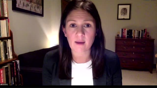 donald trump supporters storm the capitol building: lisa nandy reaction; england: int lisa nandy mp interview via internet sot q: thoughts on scenes... - war and conflict video stock e b–roll