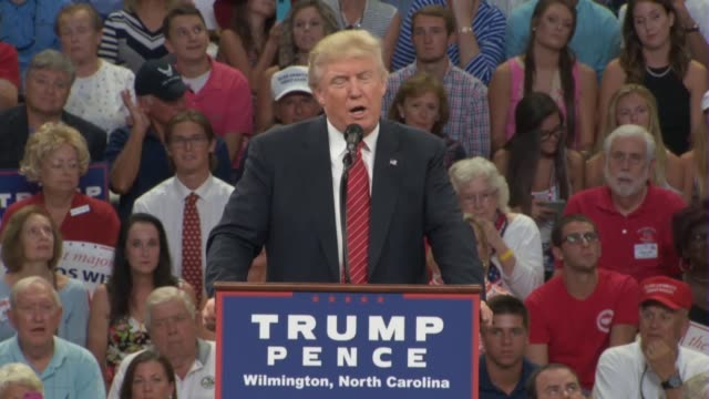 donald trump tells a political rally in wilmington north carolina that he is doing well in the primaries remarking on a recent controversy that the... - insanity stock videos & royalty-free footage