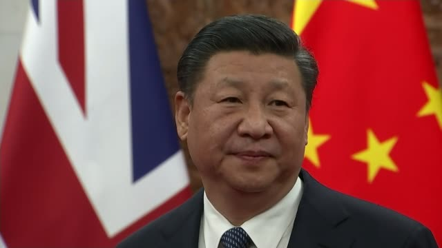 donald trump threatens china with more trade tariffs lib / 122018 beijing diaoyutai state guest house close shot of xi jinping - president stock videos & royalty-free footage
