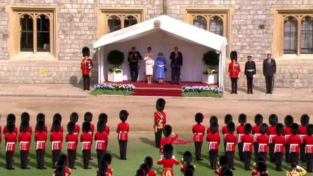 trump backtracks on his criticism of theresa may uk windsor castle donald trump and melania trump meet queen elizabeth for tea at windsor castle and... - ruler stock videos & royalty-free footage