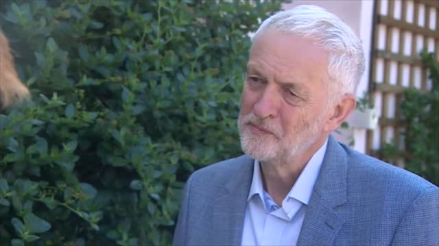 Jeremy Corbyn interview re Trump and Brexit and at Durham Miners' Gala ENGLAND Durham Durham Miners' Gala EXT Jeremy Corbyn MP interview SOT FOX'...