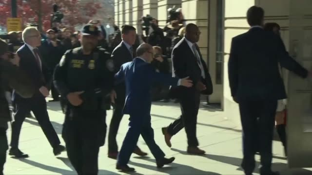 Donald Trump's former national security advisor Michael Flynn arrives at federal court in Washington after being charged with lying over his Russian...