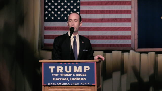 donald trump's senior advisor to the president for policy stephen miller who was a policy advisor during trump's presidential campaign when this... - sales pitch stock videos & royalty-free footage