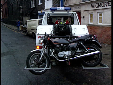 London LMS Police with motorcycle used by hitman BV Police pickup truck LMS Motorcycle as place on truck BV Motorcycle on back of truck LMS...