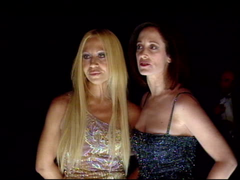 donatella versace at the 1998 fire and ice ball at universal studios in universal city california on december 9 1998 - 1998 stock videos & royalty-free footage
